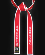 Special Red Master Belt with White Border